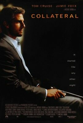 COLLATERAL MOVIE POSTER 2 Sided ORIGINAL 27x40 MICHAEL MANN TOM CRUISE