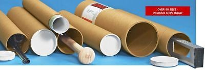 """ULINE S-2643 KRAFT MAILING TUBES, 3"""" x 24"""", .070"""" THICK 25 COUNT"""