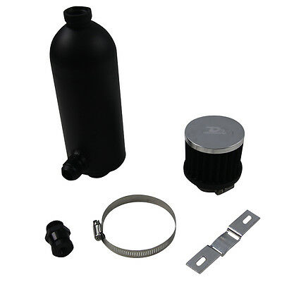 750ml Stealth Black Oil Catch Can Tank with Breather Drain Tap NPT NEW SALE