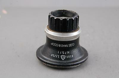 Industar 50mm f3.5 enlarging lens, E39 Leica screw fit, good condition.