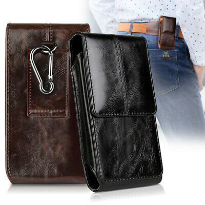 Vertical Genuine Leather Case Cover Pouch Holster Belt Clip For iPhone XS Max XS
