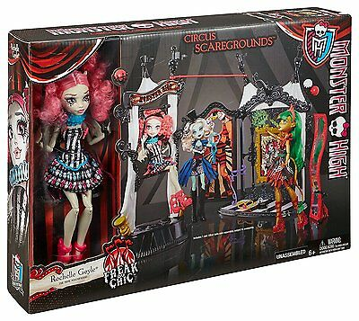 Mattel Puppe Rochelle Goyle & Monstermanege Monster High Schaurig schöne Show