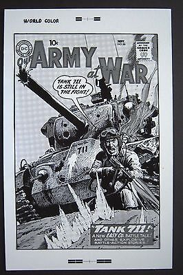 Original Production Art OUR ARMY AT WAR #86 cover, RUSS HEATH art