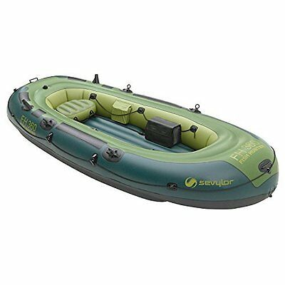 Inflatable Boat w/ 2 Seats Fishing Outdoor Camping Hunter Sailing Water Sports