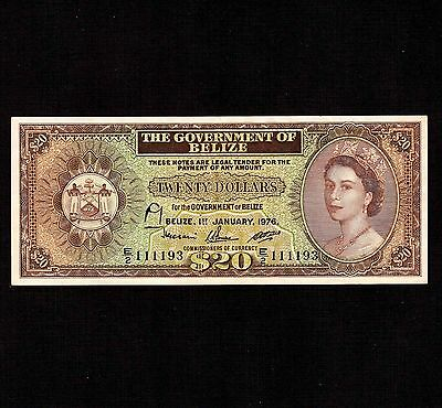 Belize, 20 Dollars 1976, P-37c * Queen Elizabeth *