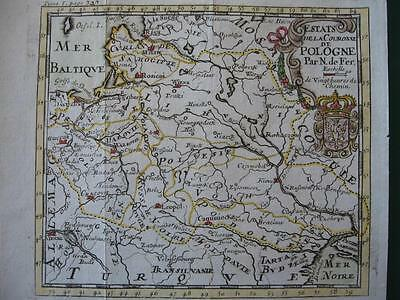 1703 - De FER - Small map  POLAND  LITHUANIA  UKRAINE