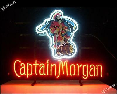 New Captain Morgan RUM Pirate Real Neon Light Sign BEER BAR PUB Fast Shipping
