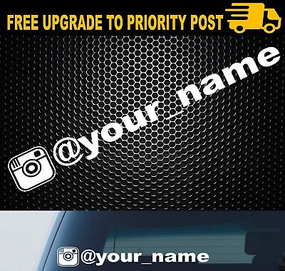 MY INSTAGRAM VINYL DECAL 400mm DECAL STICKER WINDOW CAR