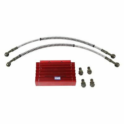 hmparts AGB Pit Bike ATV CNC Performance Oil Cooler Set Red