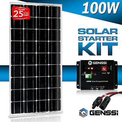 100w watts solar panel pv monocrystalline off grid 12v volt panneau solaire rv cad. Black Bedroom Furniture Sets. Home Design Ideas