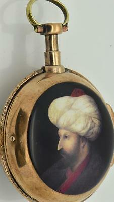 Rare antique 18th Century French Vigniaux a Toulouze Verge Fusee watch.Ottoman
