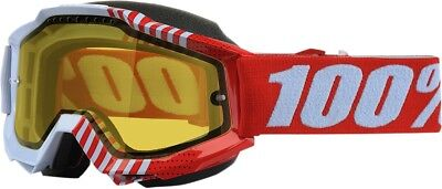 NEW 100% Accuri Snow Goggles Cupcoy w/Yellow Lens FREE SHIP