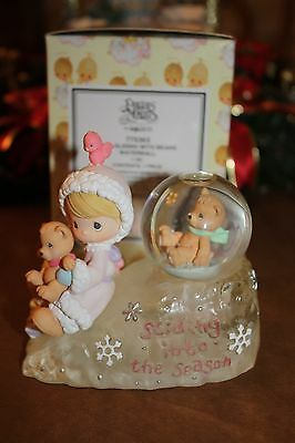 "Precious Moments ""Girl Sliding with Bears Waterball"" Figurine 2000"