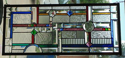 Stained Glass Window Hanging 32 X 14 1/2