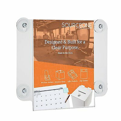 Source One Deluxe 8 1/2 x 11 Inch Window Mount Sign Holder with 4 Suction Cups 1