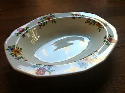 Lrg Antique Vintage Alfred Meakin England Porcelain Oval Vegetable Serving Bowl