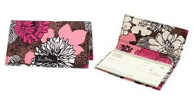 *New with tags*Vera Bradley Checkbook Cover in Mocha Rouge