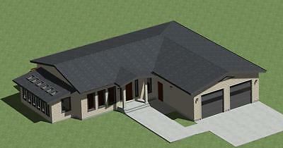 House Plans Modern Style No. 1700  with Sunroom and Outdoor Deck*