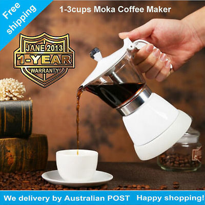 Electric Espresso Coffee Maker 3 Cups Italian Percolator Moka Pot Christmas gift