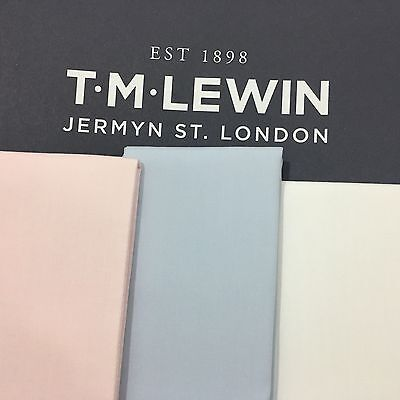 T.M.LEWIN Pocket Square Pre-Folded BLUE PINK WHITE COTTON TOP SUIT JACKET POCKET