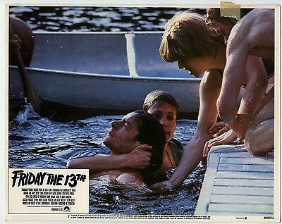Rare Original VTG 1980 Friday The 13th 11x14 Paramount Pictures Movie Lobby Card