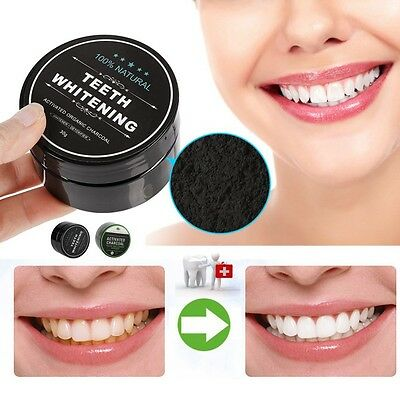100% Natural Organic Activated Charcoal Bamboo Toothpaste Teeth Whitening Powder