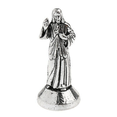 Divine Mercy Jesus Christ Statue Catholic Collectables Gift 5cm Silver Alloy