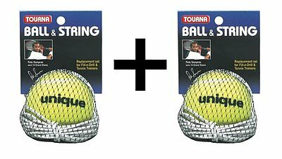Tourna Replacement Ball-String Replacement-Fill N Drill Sampras Trainer 2-Pack