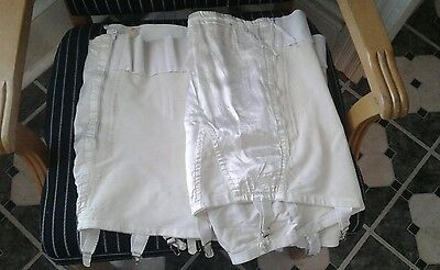 2 Vintage 50s 60s Girdle Shapewear White  Garters No Size As Is
