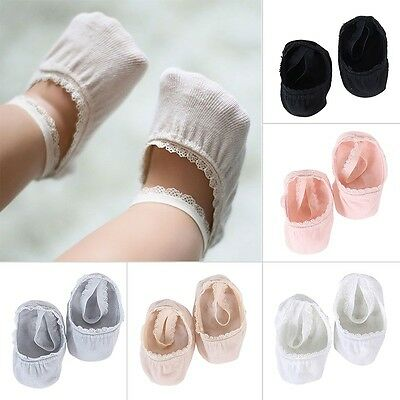 Baby Girls Boy Anti Slip cotton Socks Cute Shoes Lace Invisible Ankle Socks 0-5T