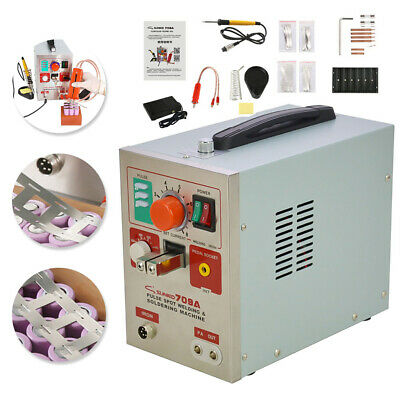 709A 2 in 1 60A 1.9kw Welding Machine  Spot Welder Soldering Iron Staion Battery
