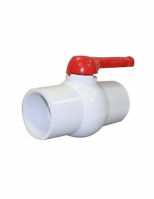 "Charman Manufacturing 1209 3"" Inline PVC Ball Valve Lever Handle Solvent End ..."