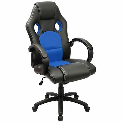 Furmax Executive Racing Office Chair PU Leather Swivel Computer Desk Seat PU and