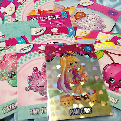 Shopkins Collector Cards Season 5 & 6 Selection - Pick from list! - Genuine!