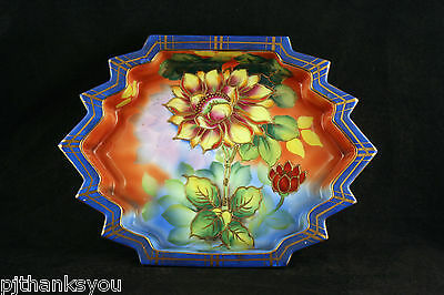 Beautiful Vintage Japanese Hand Painted Ceramic Lustre Decorative Bowl