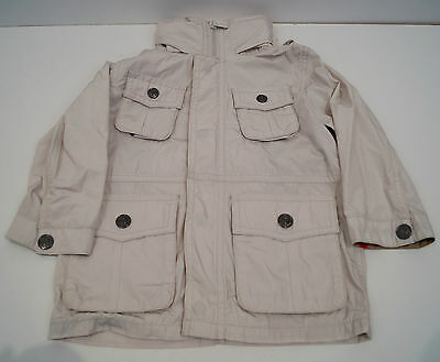 BURBERRY Baby Boy Cream Beige Lightweight Trench Mac Jacket Coat Sz: 18M