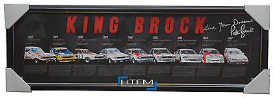 Peter Brock Signed Official Print Framed 9 x Bathurst Champion KING BROCK + COA