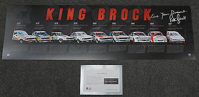Peter Brock Signed Official Print ONLY 9 x Bathurst Champion KING BROCK + COA