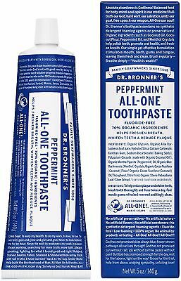 Dr. Bronner`s Peppermint All-One Toothpaste 140g - Not tested on animals