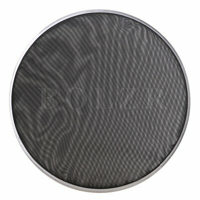 "368mm Double Ply Mesh Silent Drum Head Drum Skin for 14"" Drum Kit Black BQLZR"