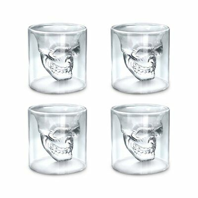 ☠☠ Skull Shot Glasses ☠☠ Absinthe, vodka, Wine, beer, Party! BAR ☠Free shipping☠