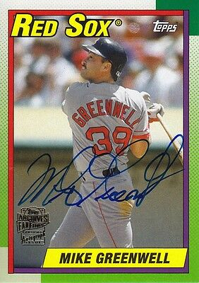 "Mike Greenwell 2014 Topps Archives "" Fans Favorites "" Auto"