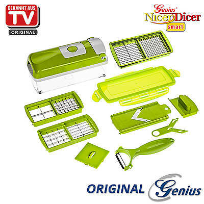 genius nicer dicer magic cube gr n zwiebelschneider gem seschneider hobel 12 tlg eur 64 85. Black Bedroom Furniture Sets. Home Design Ideas