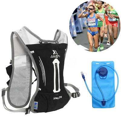 AU Hydration Pack Backpack Hiking Running Cycling Biking With 2L Water Bladder