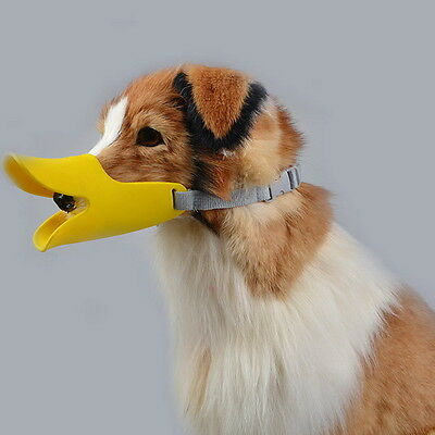 Gift Adjustable Anti Bite Soft Muzzles Duck Beak Shaped Dog Mouth Covers