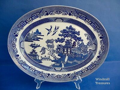 Johnson Brothers Blue & White Willow Pattern Platter/serving Plate - New