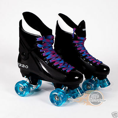 Ventro Pro Turbo Quad Roller Skates, Bauer Style - Light Blue/Pink