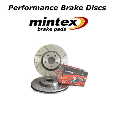DIMPLED GROOVED FRONT BRAKE DISCS AND PADS ESCORT XR3 XR3i MK3 MK4 80-90
