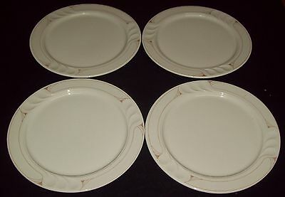 "4 Vintage Shenango China A Syracuse China Co. 10 3/4""Dinner Plates Thumbprint"
