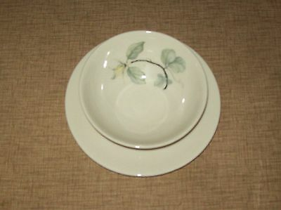 Vintage Shenango China Peter Terris Lily Sauce / Gravy Bowl Attached Under Plate
